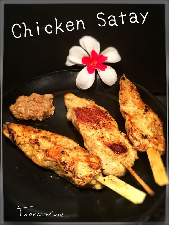 Chicken Satay, recette thaïlandaise.