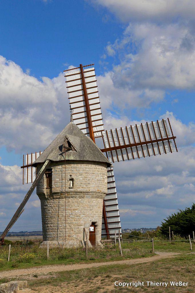 Le moulin de la falaise - Moulin à blé noir Batz-sur-Mer