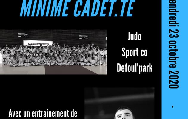 Stage de judo départemental Minimes Cadet.tes