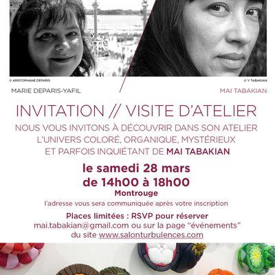 Visite d'atelier - samedi 28 mars 2020 de 14 à 18 h - Salon Turbulences - Montrouge