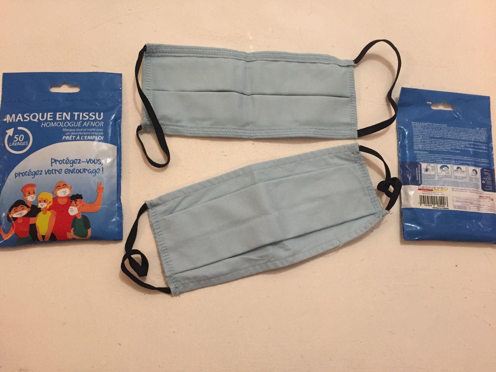 masque en tissu anti covid offert par la ville