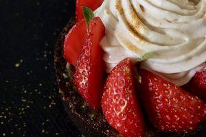 Tartelettes aux fraises pralinées-dulcey