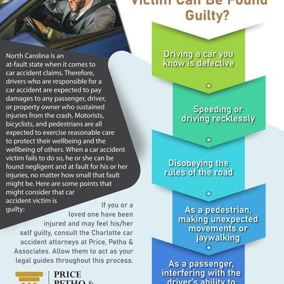 When A Car Accident Victim Can Be Found Guilty?