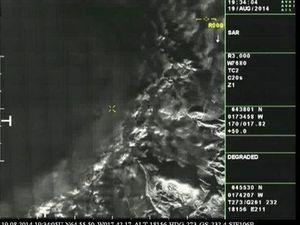 Bárðarbunga - 19.08.2014 - images radar du cratère - doc. IMO - un clic pour agrandir.