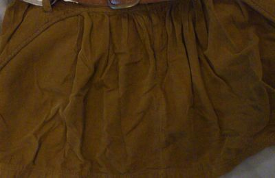 Jupe marron pull and bear