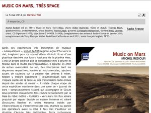 [ Album CD ] Music on Mars > presse (mai-juin 2014)