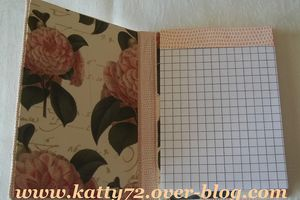 Porte bloc-notes en cartonnage