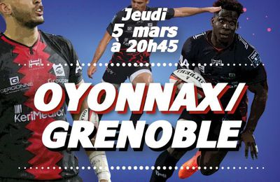 [Rugby] Oyonnax Rugby / FC Grenoble (Pro D2) ce jeudi sur Canal+Sport !