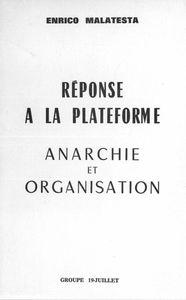 ★ Anarchie et Organisation