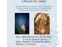 L'heure du conte à la médiathèque du Val de Vôge