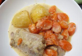 Cuisse de dinde sauce moutarde avec carottes et pommes de terre avec ou sans cookéo
