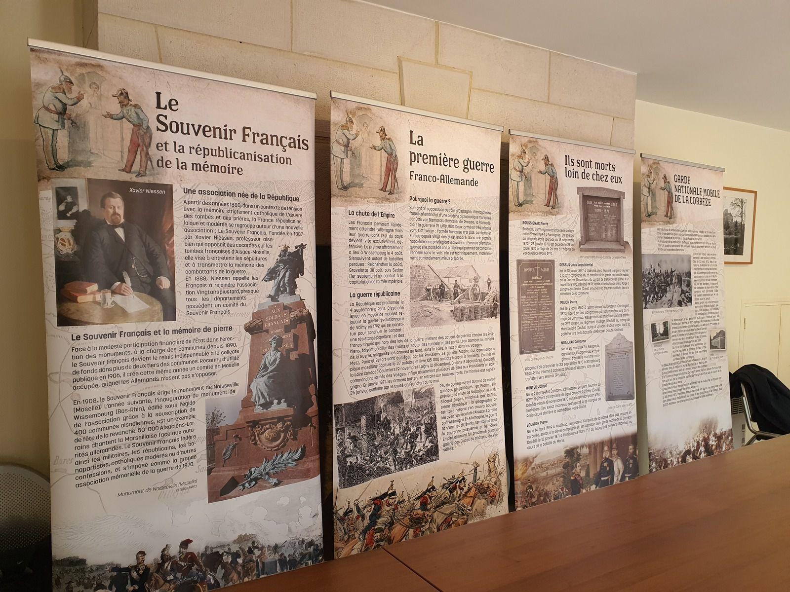 Souvenir Français, Fédération française de généalogie, généalogie, devoir de mémoire, guerre de 1870, morts pour la patrie, commémorations, Corrèze, exposition