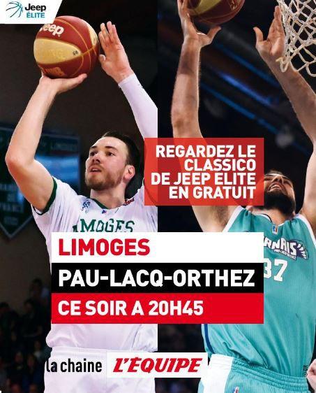 Le Classique Limoges / Pau-Lacq-Orthez en direct et en clair ce samedi