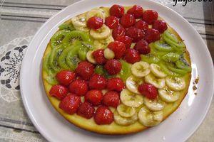 tarte kiwis-fraises-bananes