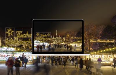 Les illuminations festives de Vienne