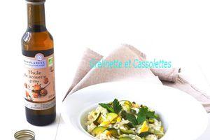 Risotto tonique Courgette Citron, à l'huile de Noisette