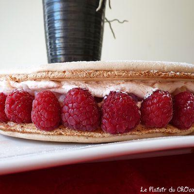 Macaron Ispahan : Rose, Framboise & Litchi (recette P.Hermé).