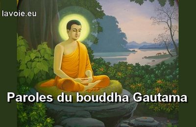 Paroles d'un bouddha
