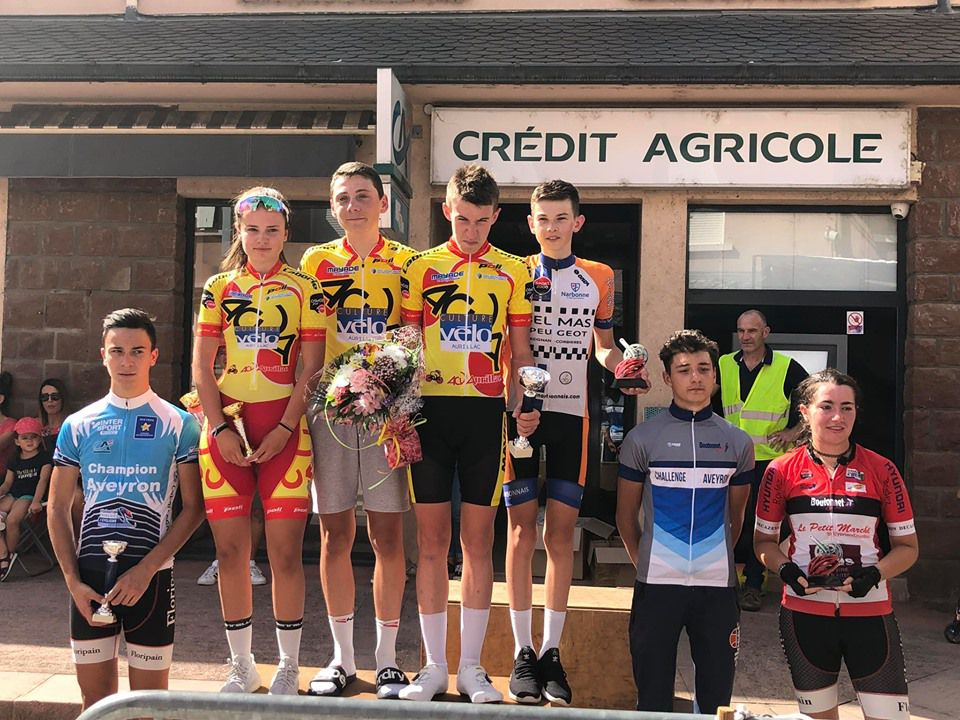 Le podium des cadets en 2019  (photo Audrey Isserte)