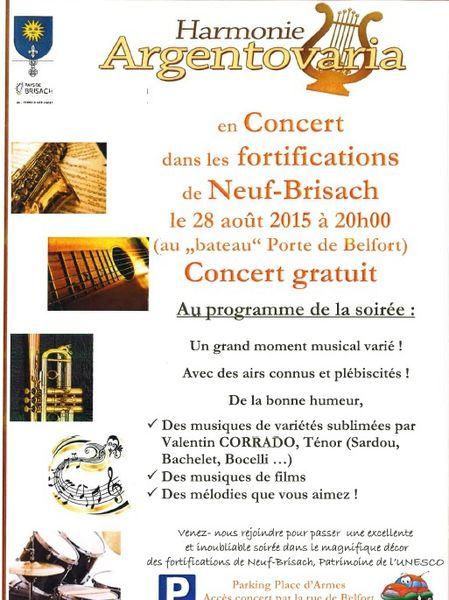 """Concert au """"Bateau"""" à Neuf Brisach le 28 août 2015"""