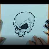 Como dibujar una calavera paso a paso 49 | How to draw a skull 49