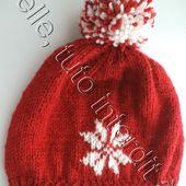 tuto gratuit : bonnet étoilé à pompon - Chez Laramicelle