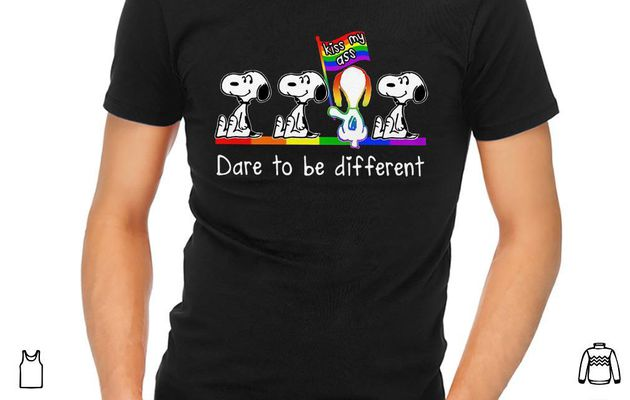 Awesome Snoopy dare to be different kiss my ass shirt