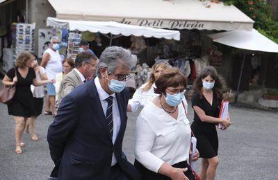 Georges Méric a visité les sites touristiques, patrimoniaux et culturels de Saint-Bertrand-de-Comminges et Valcabrère