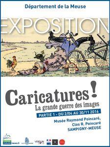 """""""Caricatures ! - La Grande Guerre en images"""" : exposition"""