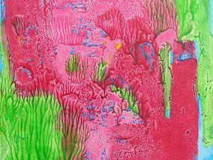 Jacqueline Putatti 2010 - Idées de peintures 75.3 - Herbes, fleurs, arbres et fruits - Acryliques sur papier 50 x 65cm