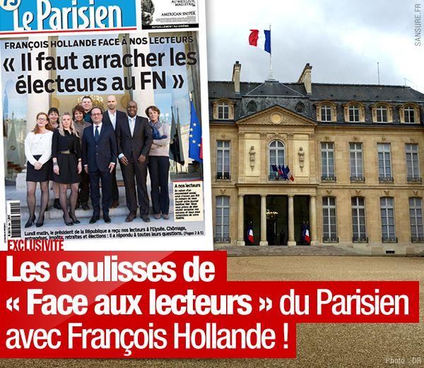 Les coulisses de « Face aux lecteurs » du Parisien avec François Hollande ! #Exclusivité