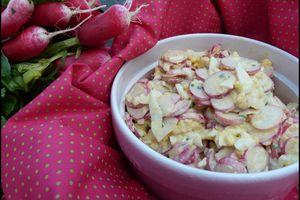 Salade de radis roses aux oeufs