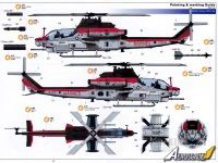 """Decal sheet Kitty Hawk Model Bell AH-1Z """"Viper"""" special color"""