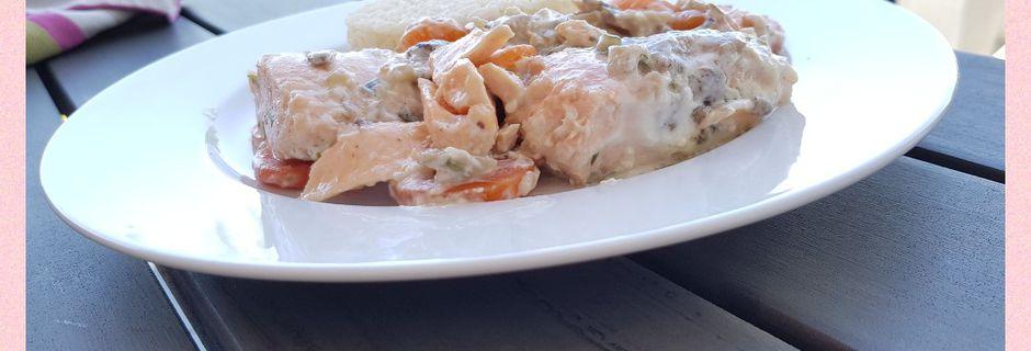 Blanquette de saumon à l'estragon