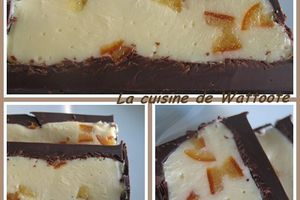 Nougat tendre au chocolat blanc et orange confite