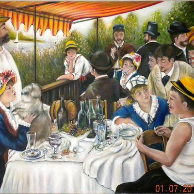 Déjeuner des canotiers d'aprés Auguste Renoir