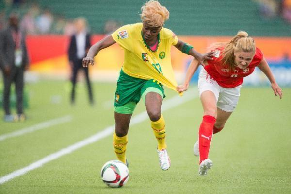 Imágenes de las leonas indomables, la selección nacional de fútbol femenino de Cameroun.- El Muni.