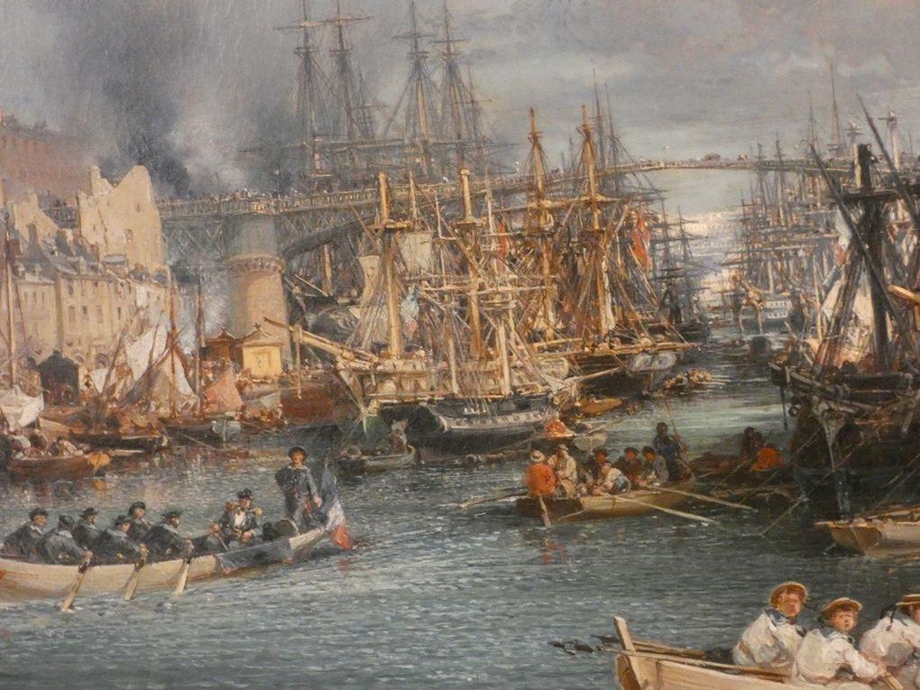 Jules NOËL Nancy, 1815 – Alger, 1881 Le port de Brest 1864 Huile sur toile Dépôt du Fonds national d'art contemporain, 1992