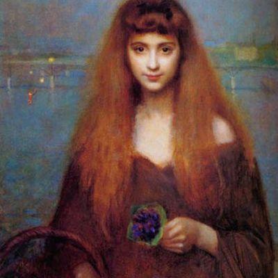 Le Tableau du Samedi: Georges Louis Picard (1857-1943), La vendeuse de violettes