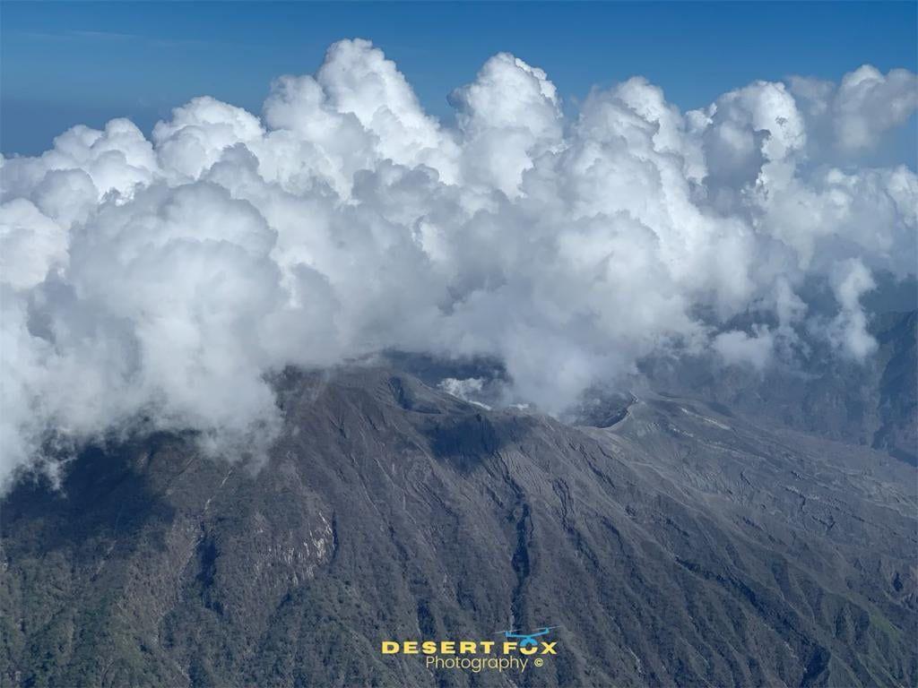 Soufriere de St. Vincent - aerial view of the crater -, photo 06.2021 R. De Freitas. via UWI
