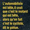 Les p'tits vélos, les p'tites motos les p'tites autos et les....camions