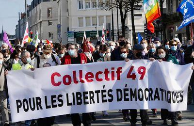 Manifestation angevine du 20 mars : loi sécurité globale, mais libertés minimales