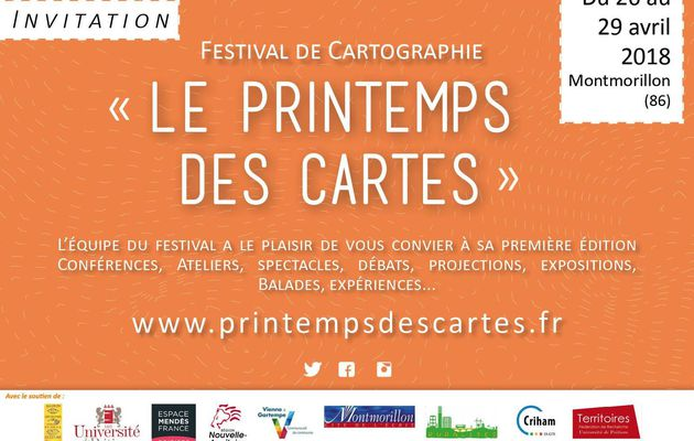 Festival de la Cartographie du 26 au 29 Avril à Montmorillon