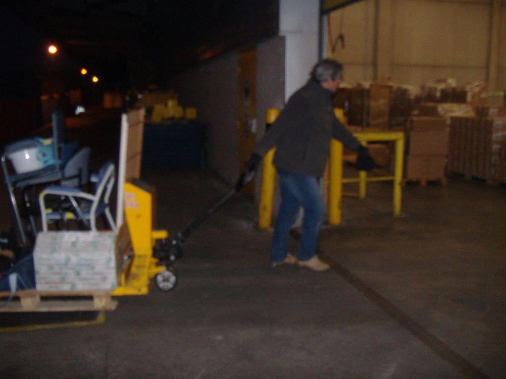 Arrivée au quai le vendredi matin 7h du  1er transfert - 1 camion (envoi no 9)