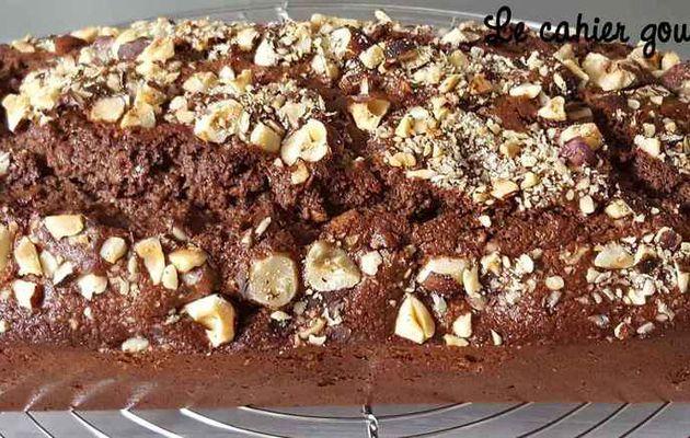 Cake chocolat noisettes à la fleur de sel