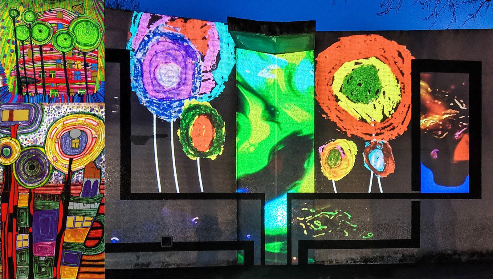 Les « Lollipop trees » d'Hundertwasser