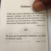 Dans le Coran, Allah interdit de tuer