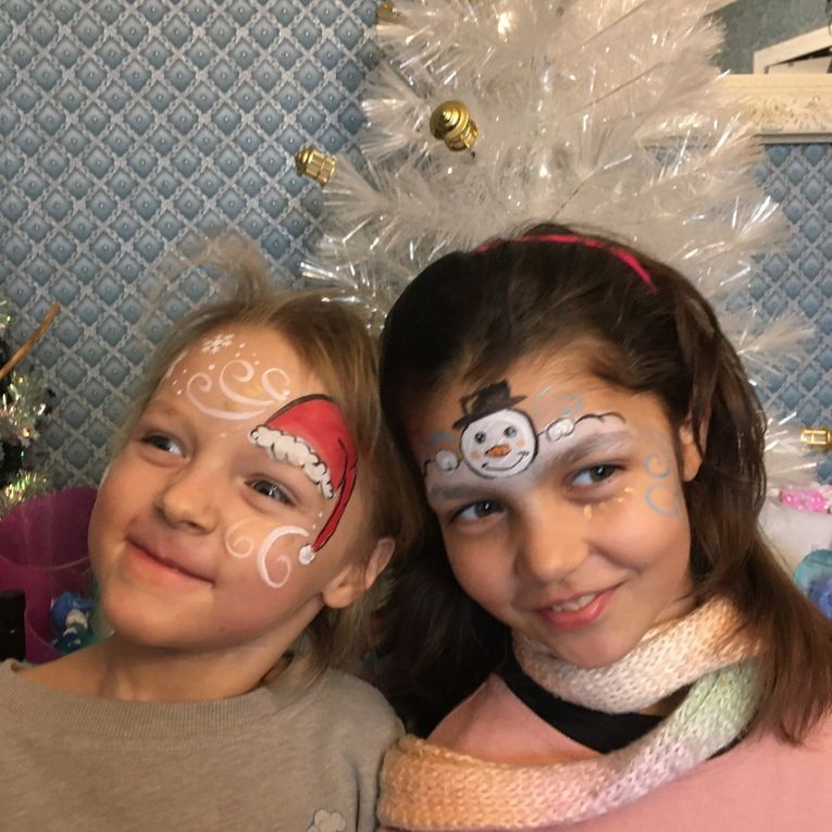 Grimages:  divers maquillage de Noël