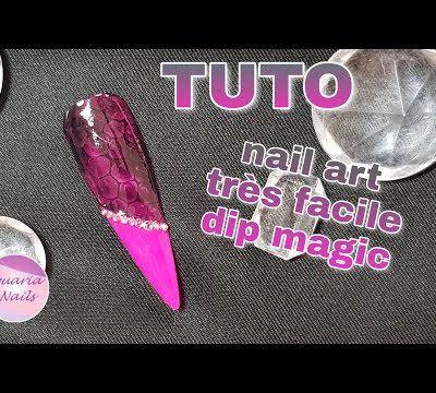 Nail art facile avec gel dip magic