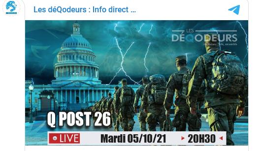 Les DéQodeurs Live du 05 octobre 2021 - Q post 26